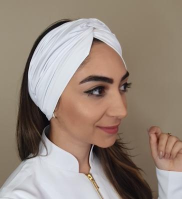 TURBANTE FEMININO  BRANCO