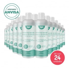 Kit com 24 un Higienizador Para As Mãos Camomila 250ml