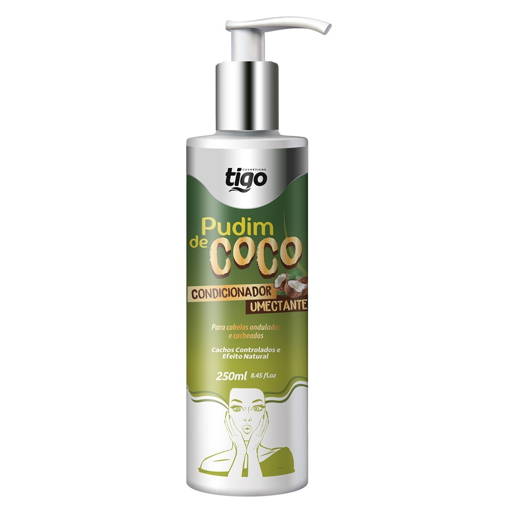 Condicionador Pudim de Coco 250ml - Tigo Cosméticos