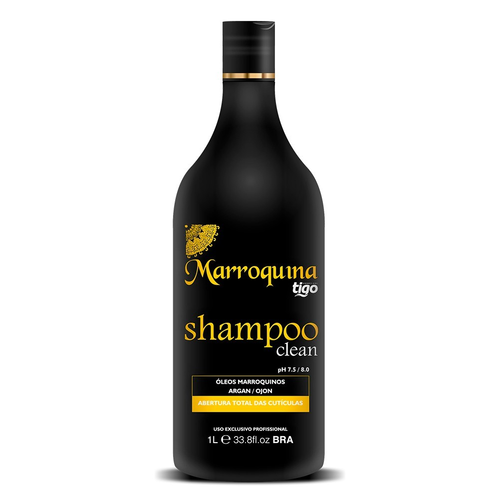 Shampoo Clean Marroquina 1L - Tigo Cosméticos