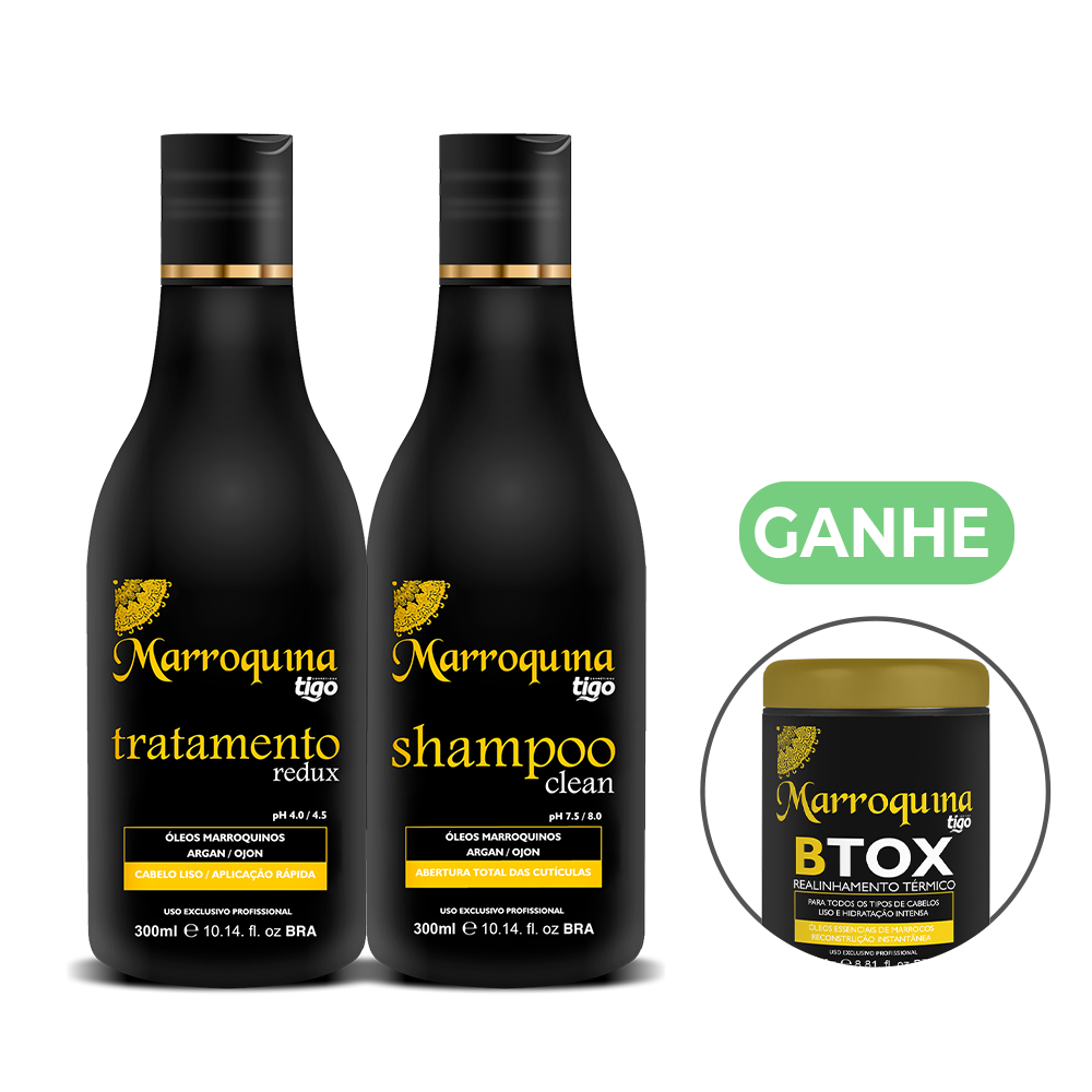Kit Progressiva Marroquina 300ml | Ganhe Botox Marroquina 250g