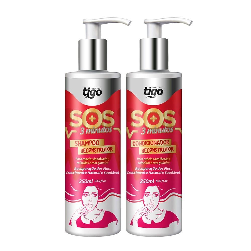 Kit SOS 3 Minutos 250ml - Tigo Cosméticos