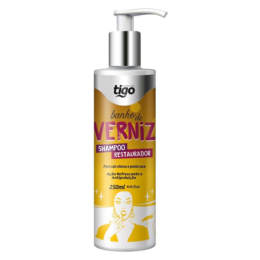 Shampoo Banho de Verniz 250ml - Tigo Cosméticos