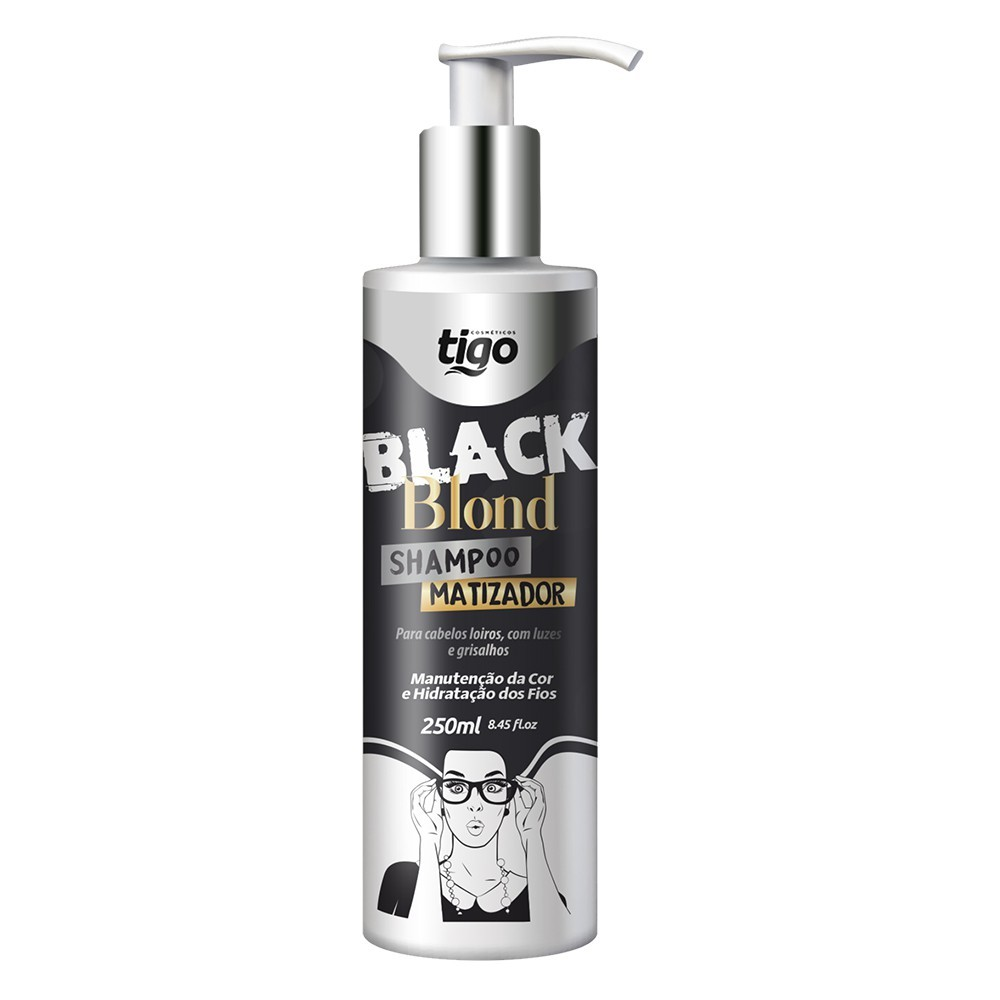 Shampoo Black Blond 250ml - Tigo Cosméticos