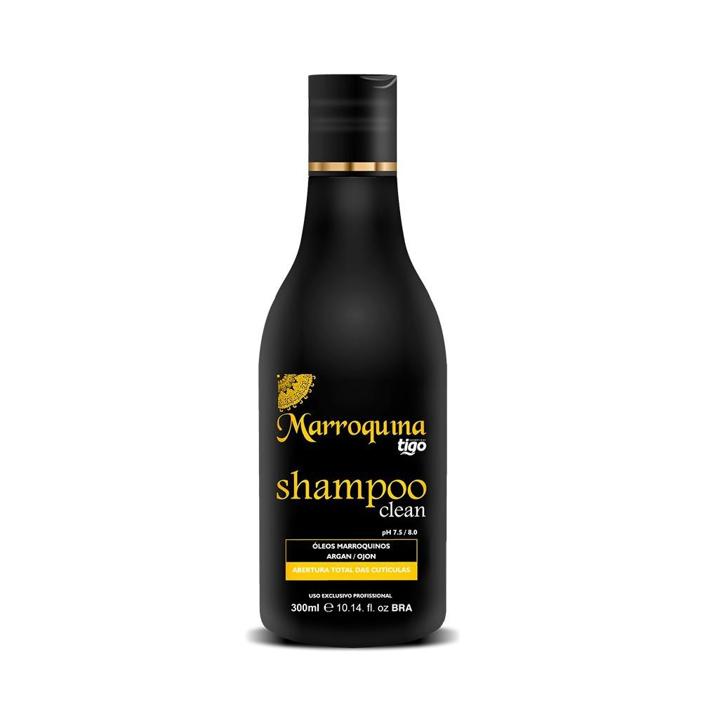 Shampoo Clean Marroquina 300ml - Tigo Cosméticos