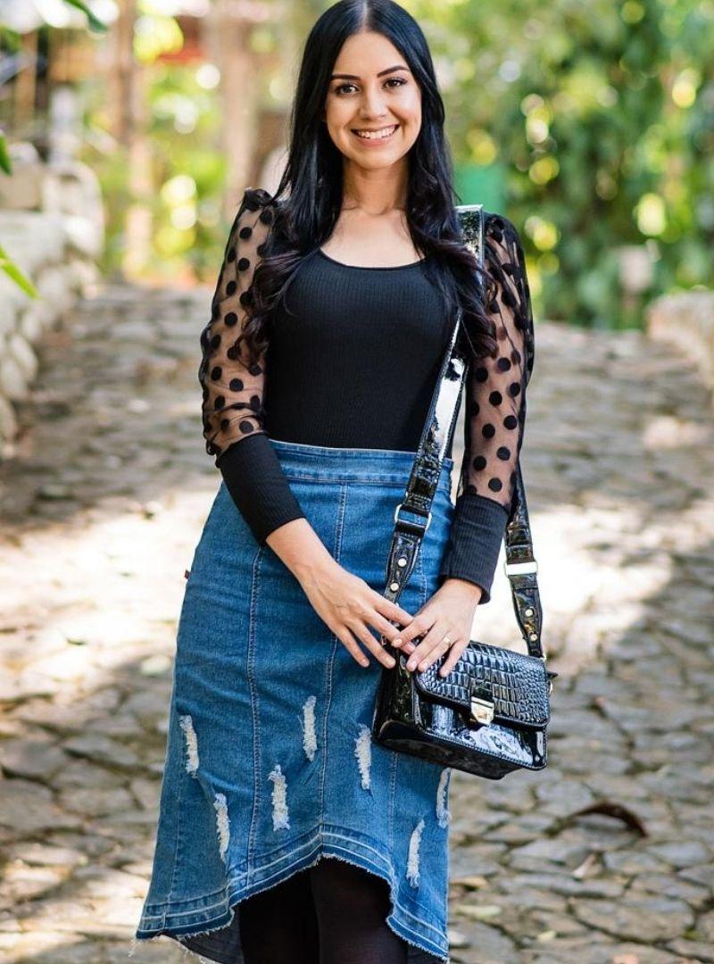 Saia jeans Mullet - Thalia