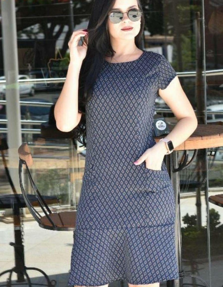 Vestido Azul Marinho - Sarah
