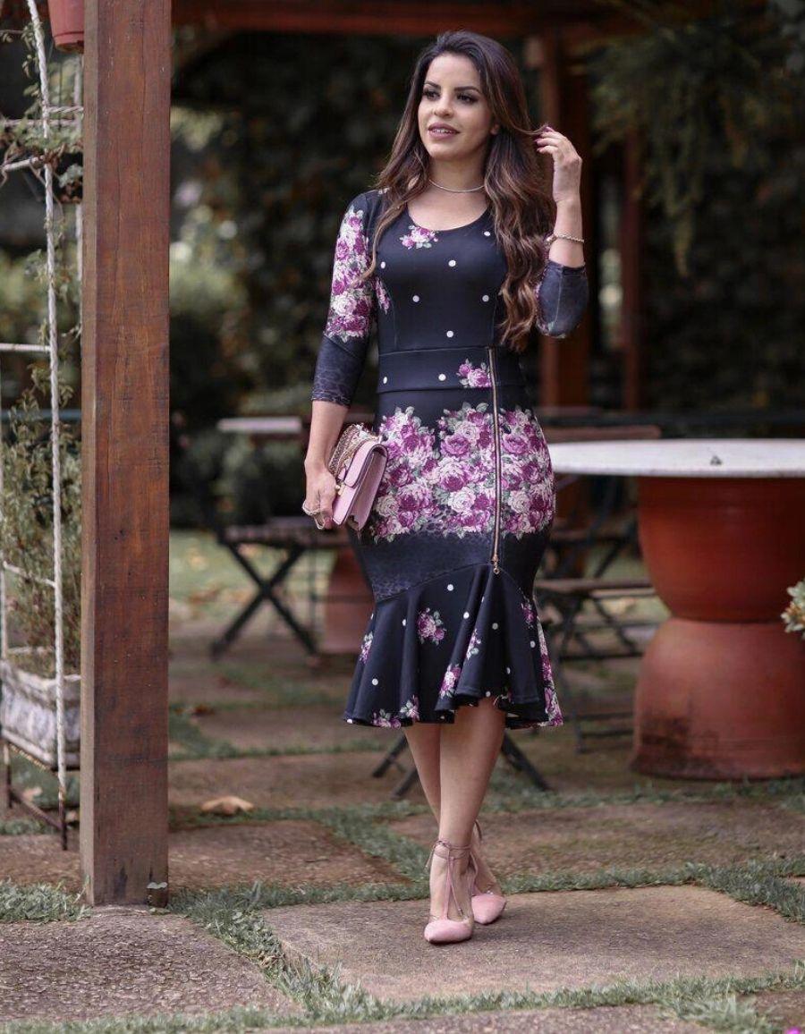 Vestido estampa floral - Denise