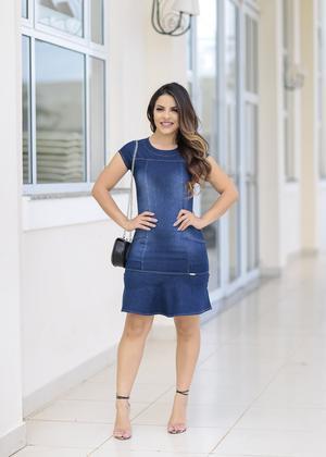 Vestido jeans curto - Marília