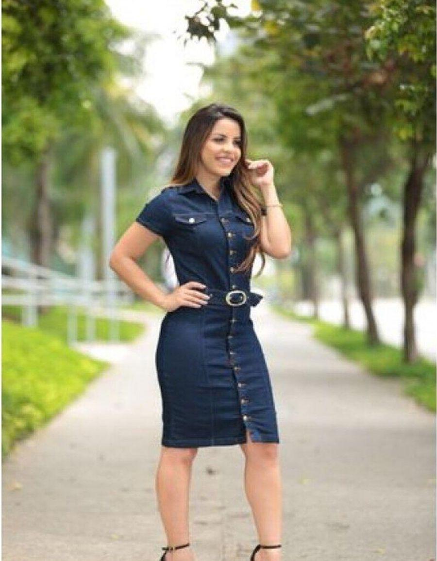 Vestido jeans escuro - Eduarda