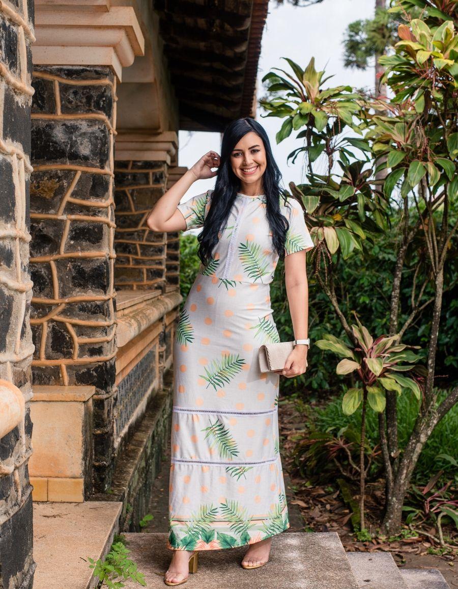 Vestido Longo Floral / Poá - Isadora