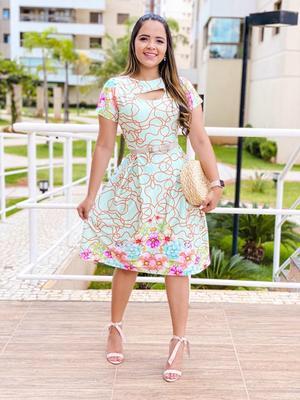 Vestido Rodado Floral - Giovanna