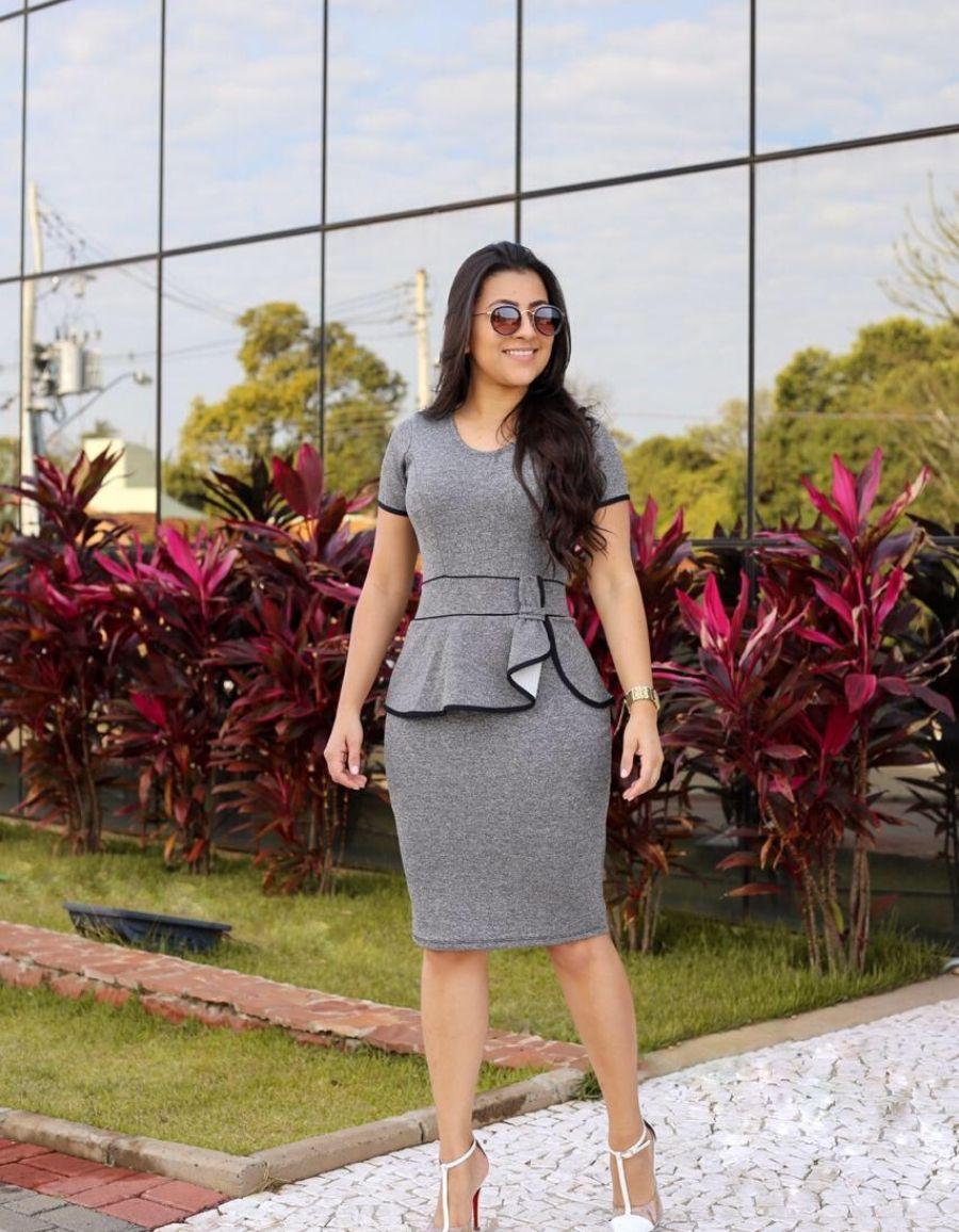 Vestido tubinho cinza - Maria Luísa