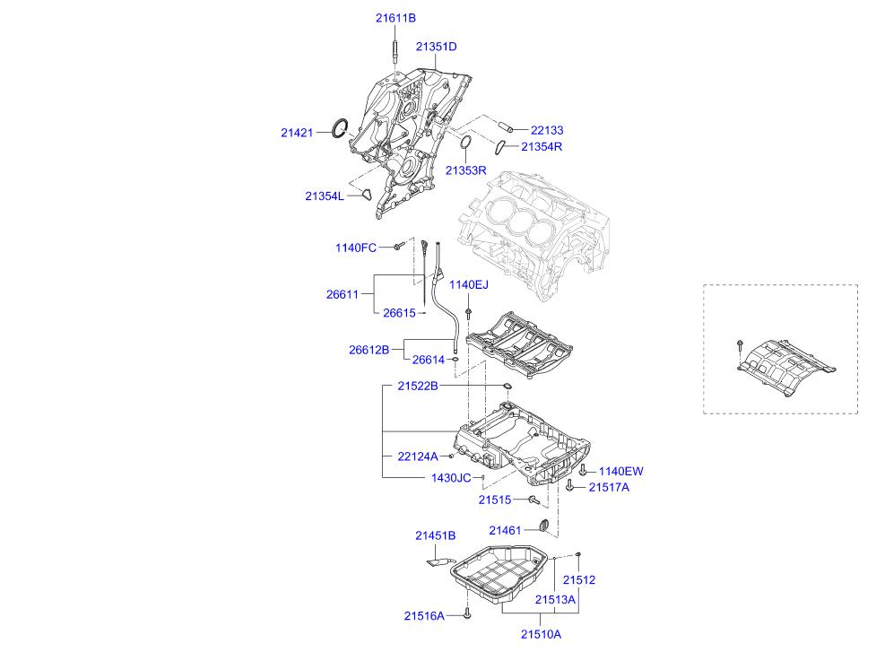 BOMBA DE OLEO DO MOTOR HYUNDAI 3.0/3.5/3.8 V6 24V 10/...