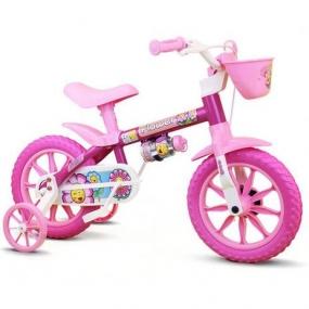 Bicicleta Infantil Nathor Flower Aro 12 Feminina