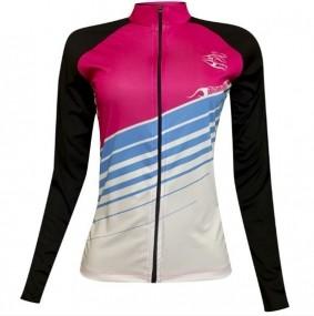 Camisa ciclismo feminina Damatta Heaven manga longa