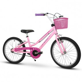 Bicicleta Infantil Nathor Bella Rosa Aro 20