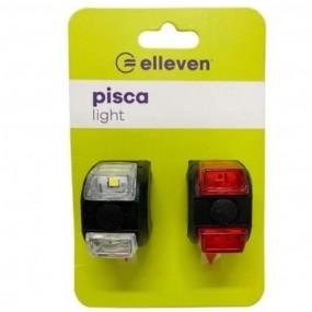 Pisca Light Elleven Kit Branco / Vermelho