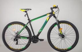 "Trinx M100 PRO Preto / Verde / Amarelo Tam. 17"""