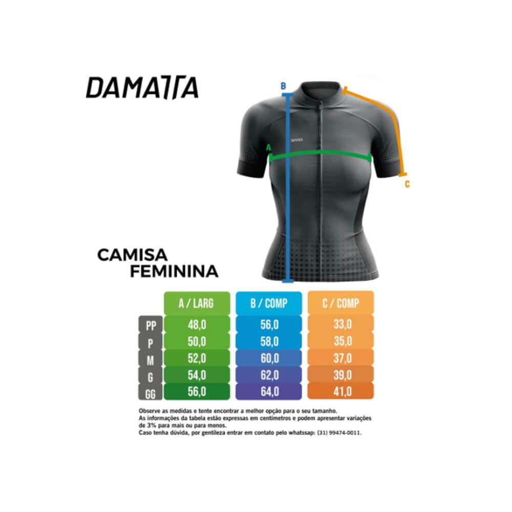 Camisa Ciclismo Feminina Damatta Chevron