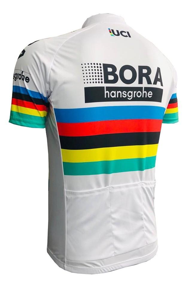 Camisa ciclismo manga curta masculina Bora hansgrohe