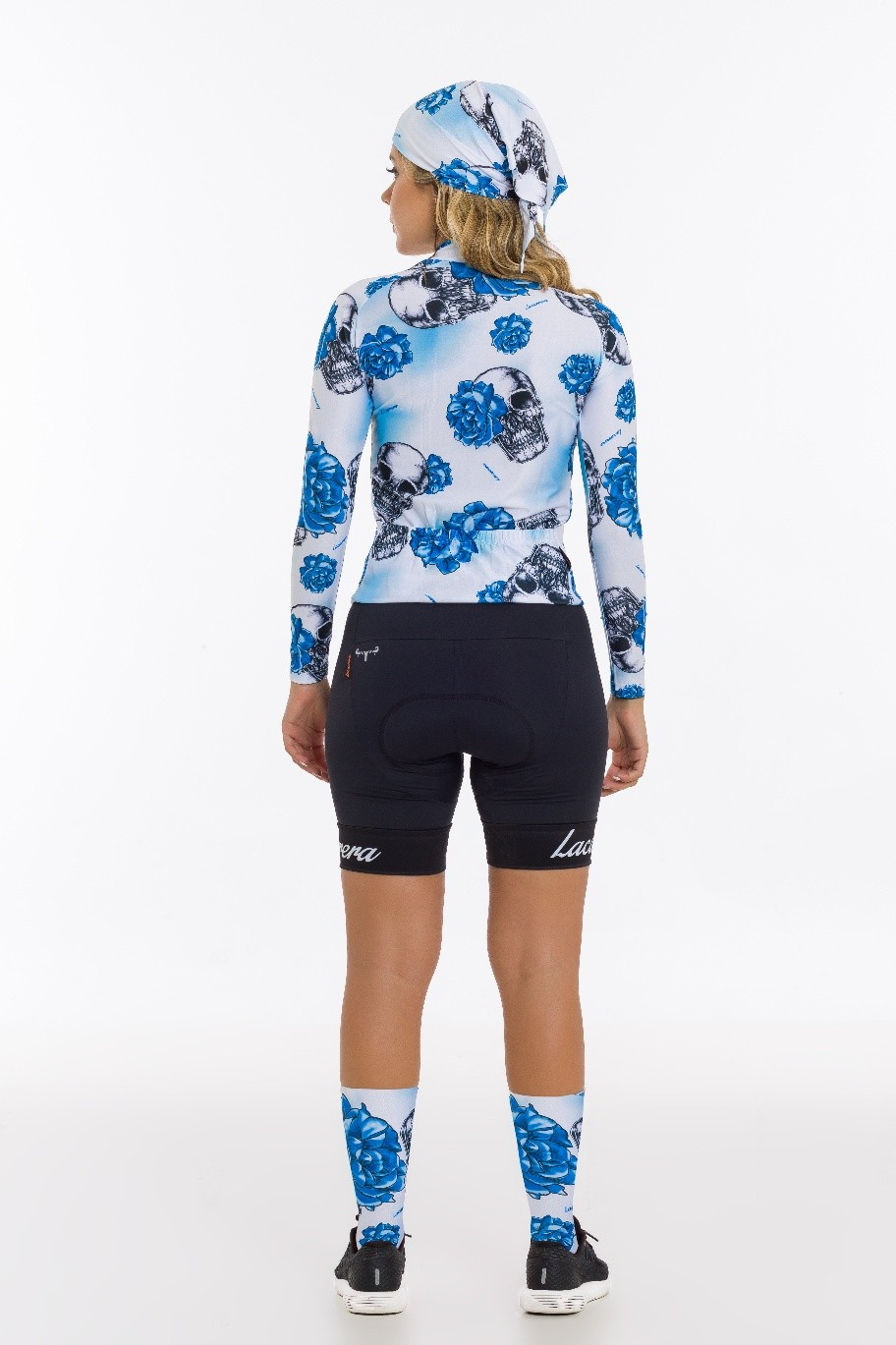 Camisa Ciclismo Manga Longa Lacarrera Feminina Blue