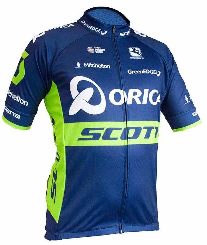 Camisa ciclismo masculina manga curta Orica Scott Tam. G
