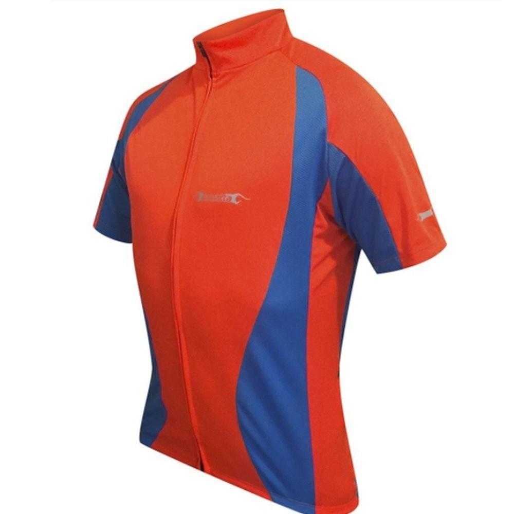 Camisa manga curta Damatta Freedom alaranjada fluor / azul