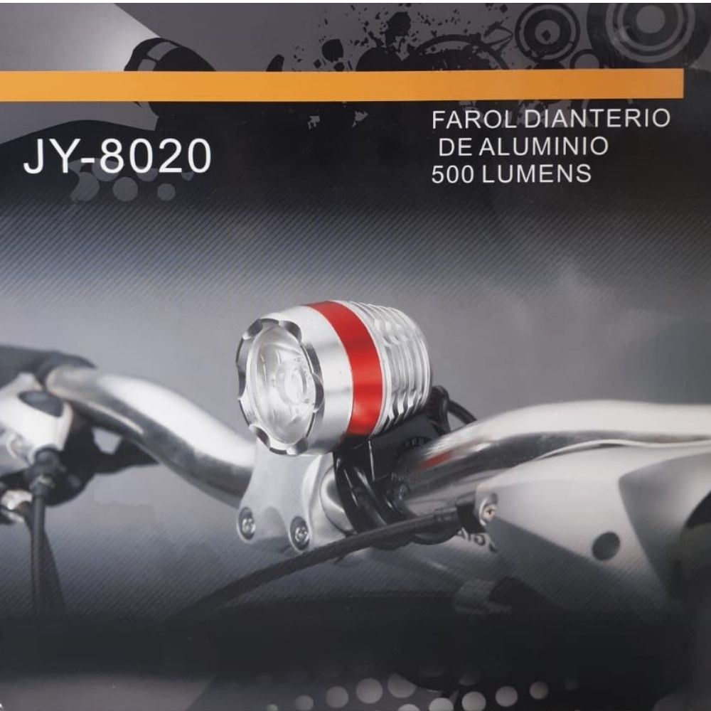 Farol lanterna JY-8020 500 Lúmens Bateria Lítio USB