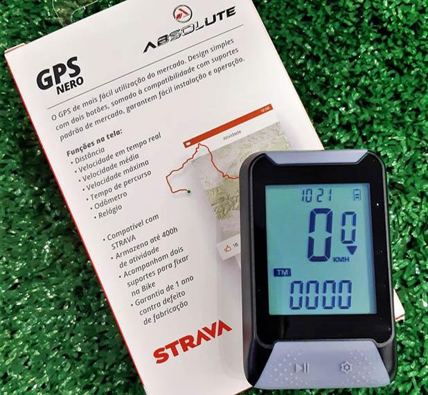 Ciclocomputador GPS Bicicleta Absolute Strava