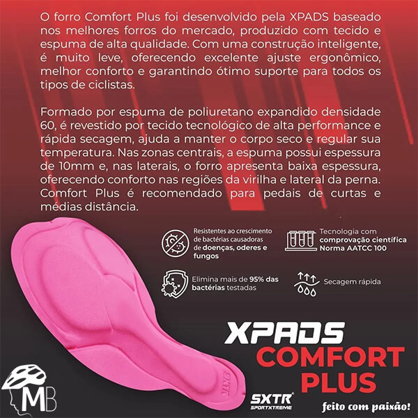 Macaquinho Ciclismo Comfort Sense SportXtreme