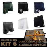 6 Cuecas Boxer - Kit Leve 6 Pague 5