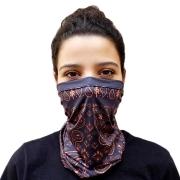 Bandana Tubular - Caxemira Laranja