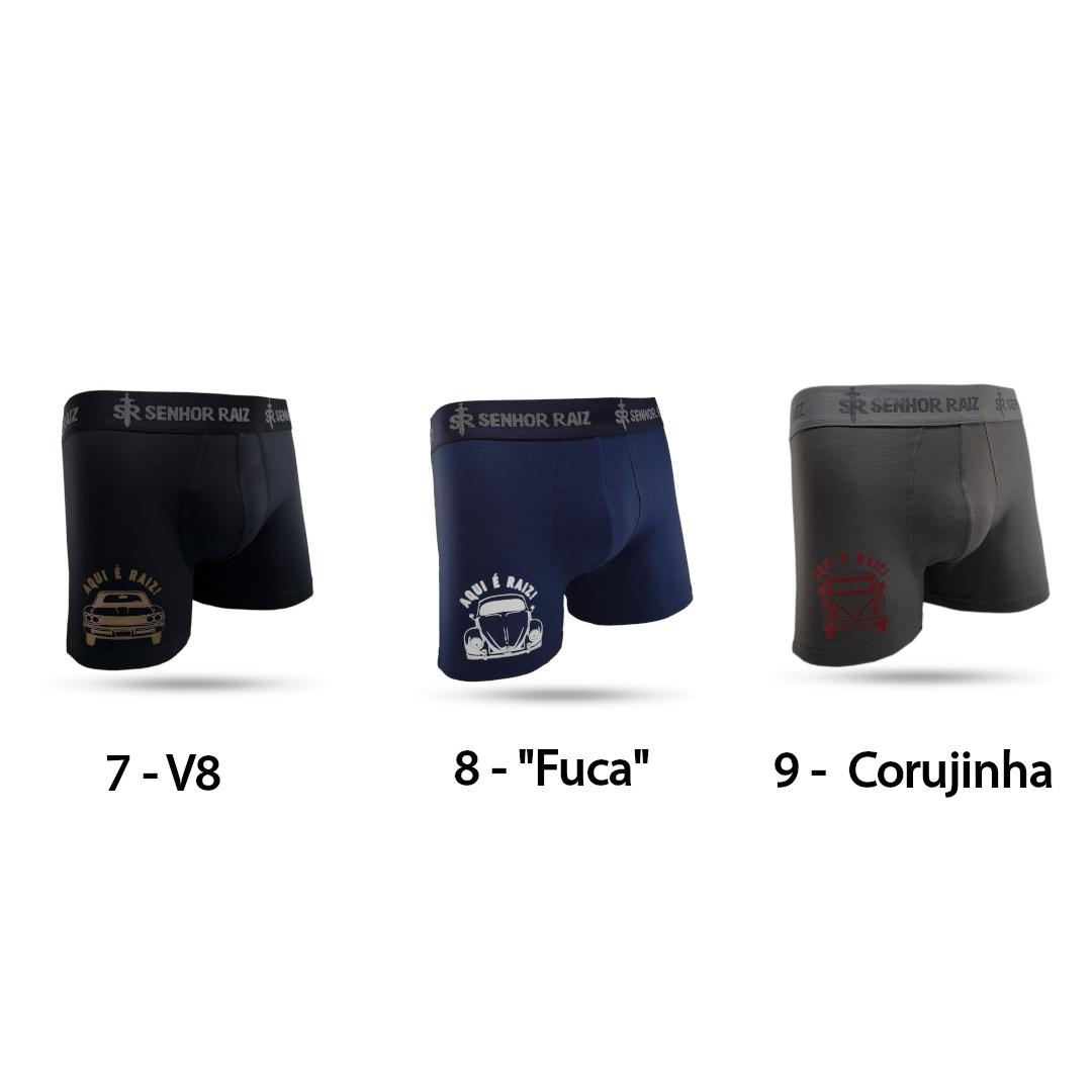 3 Cuecas com 3 Meias Temáticas - Kit