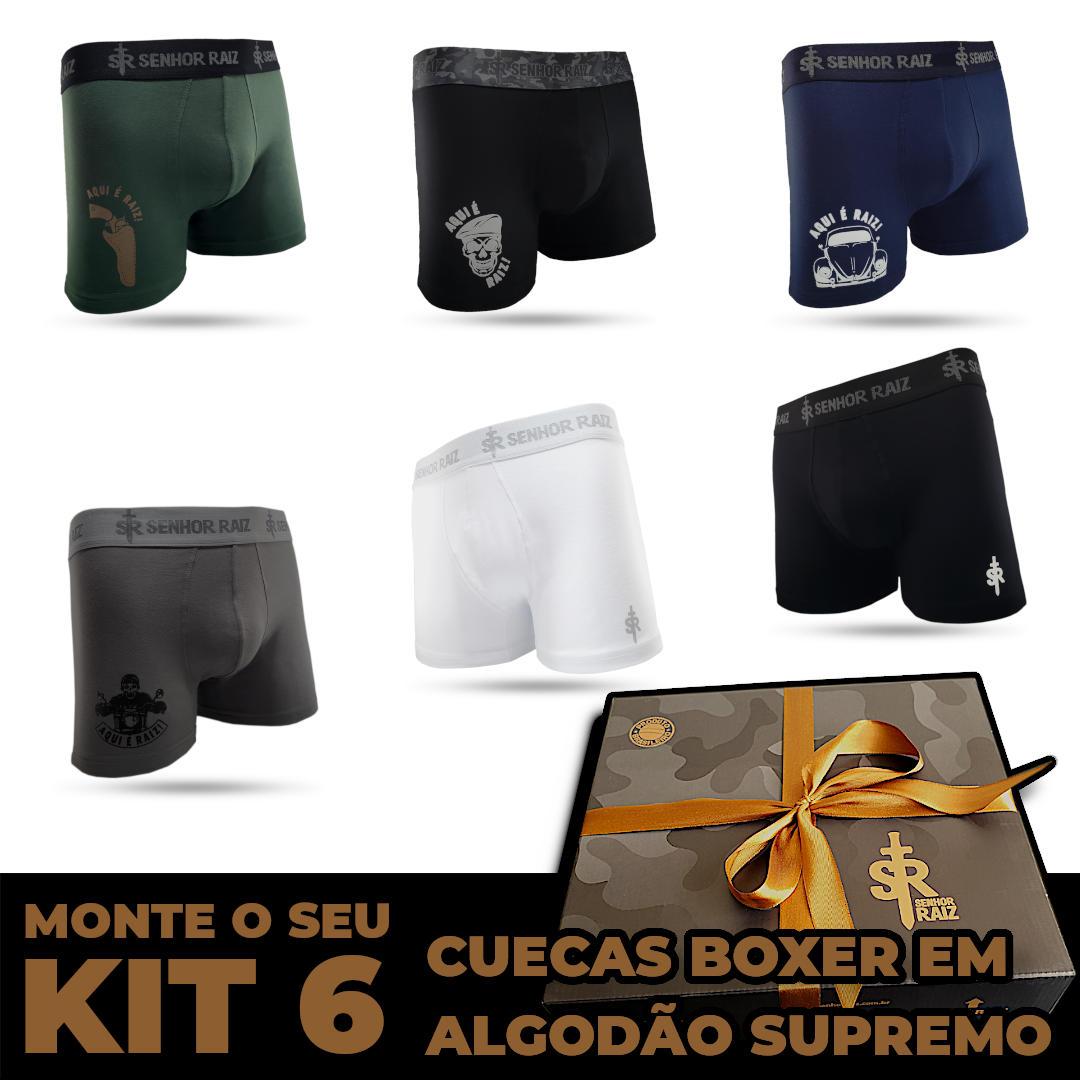 6 Cuecas Boxer - Kit LEVE 6, PAGUE 5