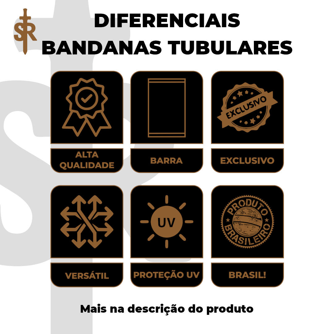 Bandana Tubular - Rota 66 Placas
