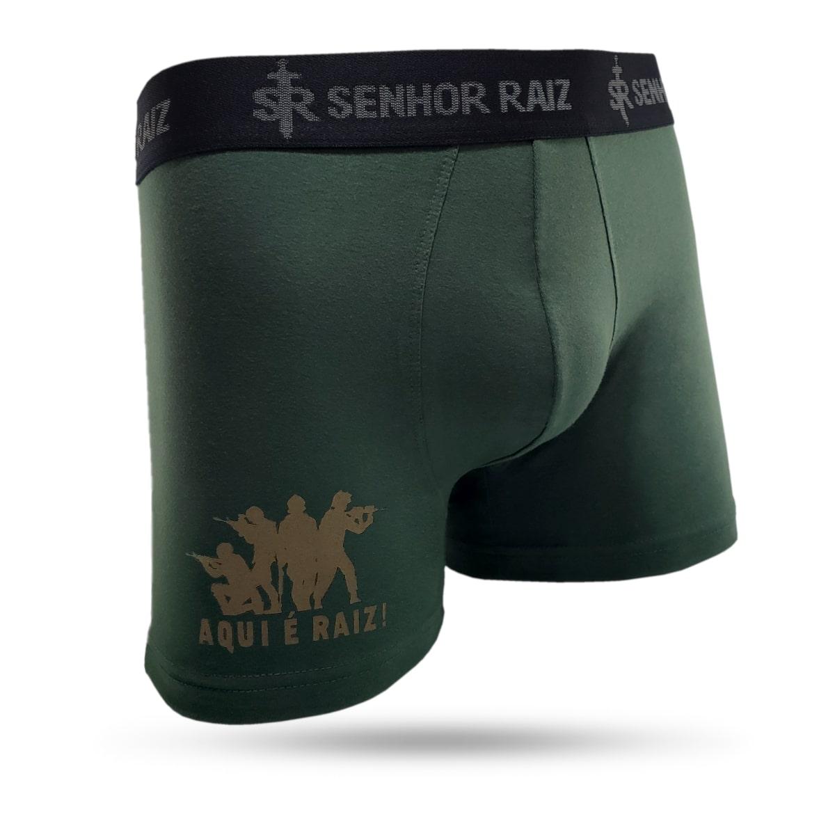 Boxer Temática em Algodão Supremo. Militar - Soldados
