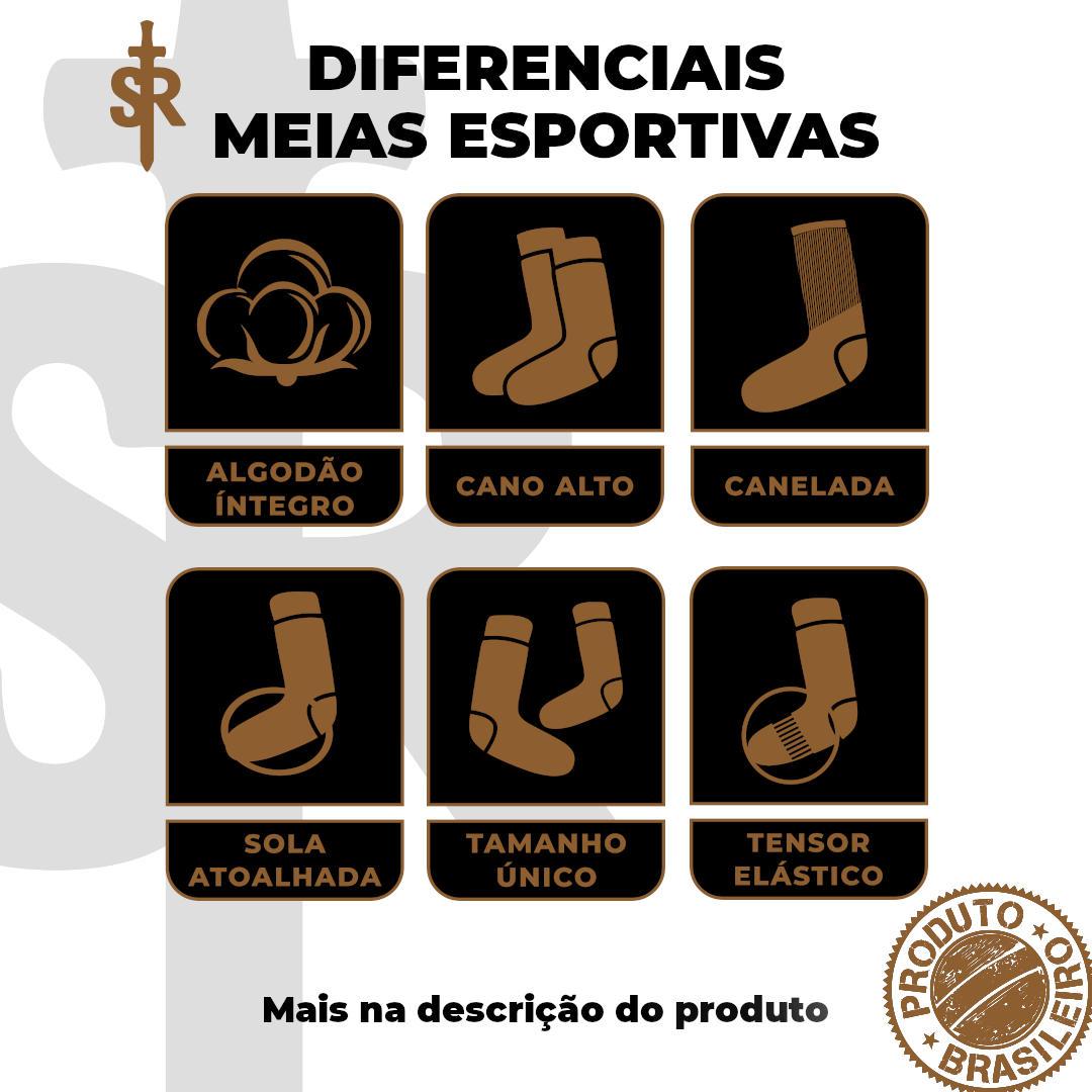 Meia Esportiva Cano Alto - Branca (natural - off white)