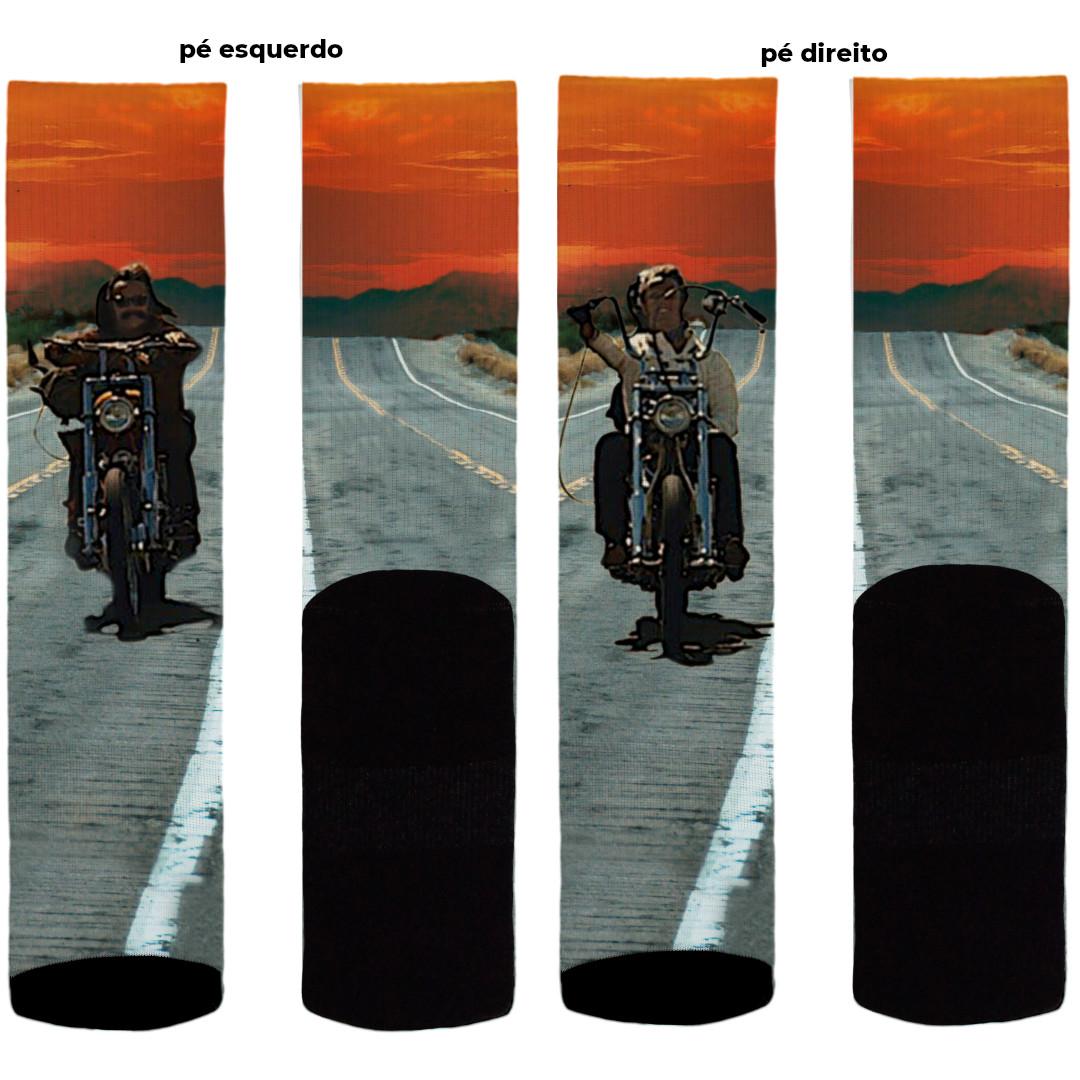 Meia Sublimada - Easy Rider