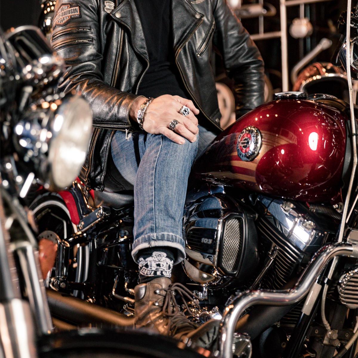 Meia Temática Motociclista - Senhor Piloto
