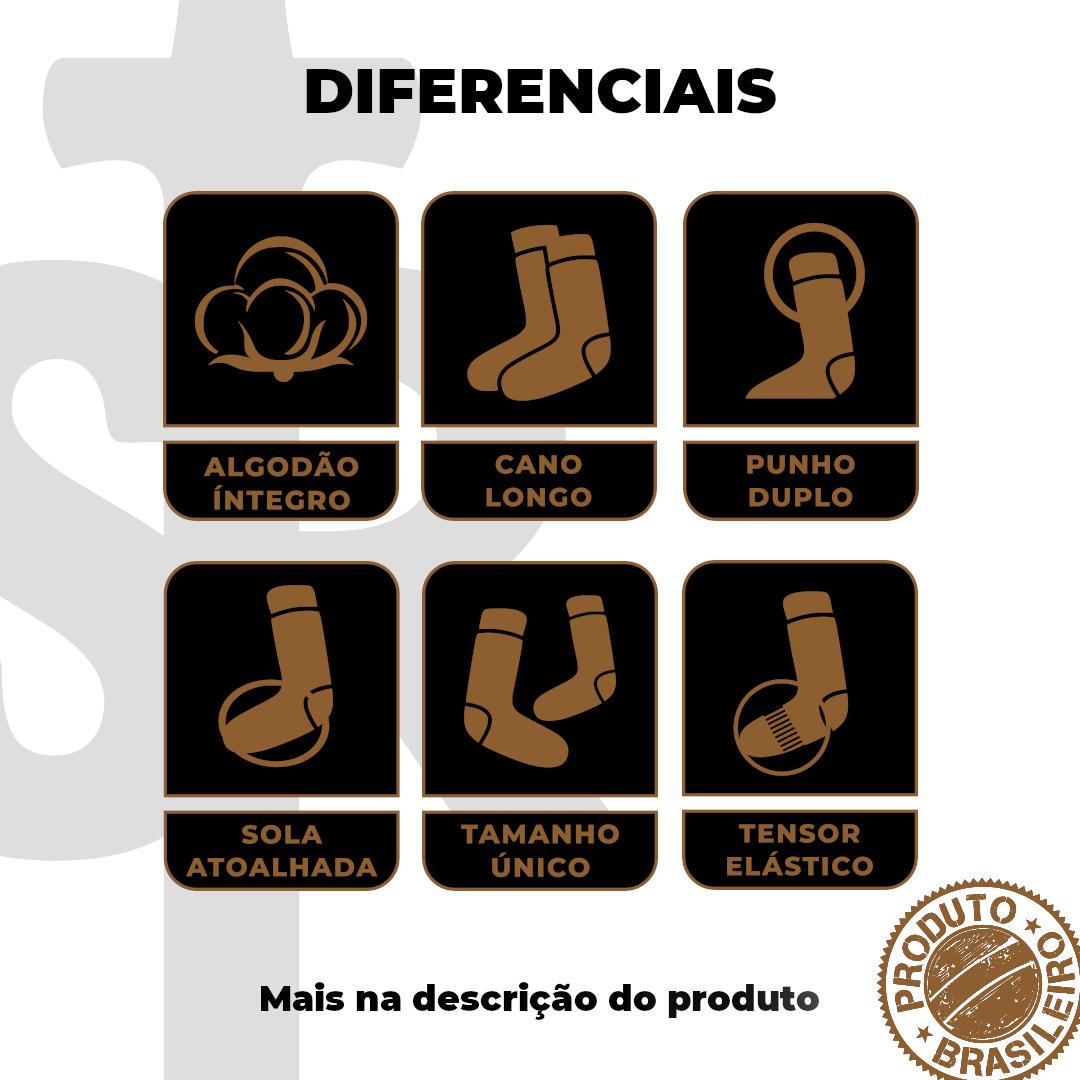 Meia Temática Sertanejo - Bota&Chapéu