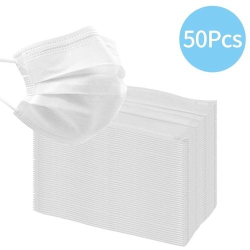 Máscara Tripla Descartável com Elástico- 50 unidades