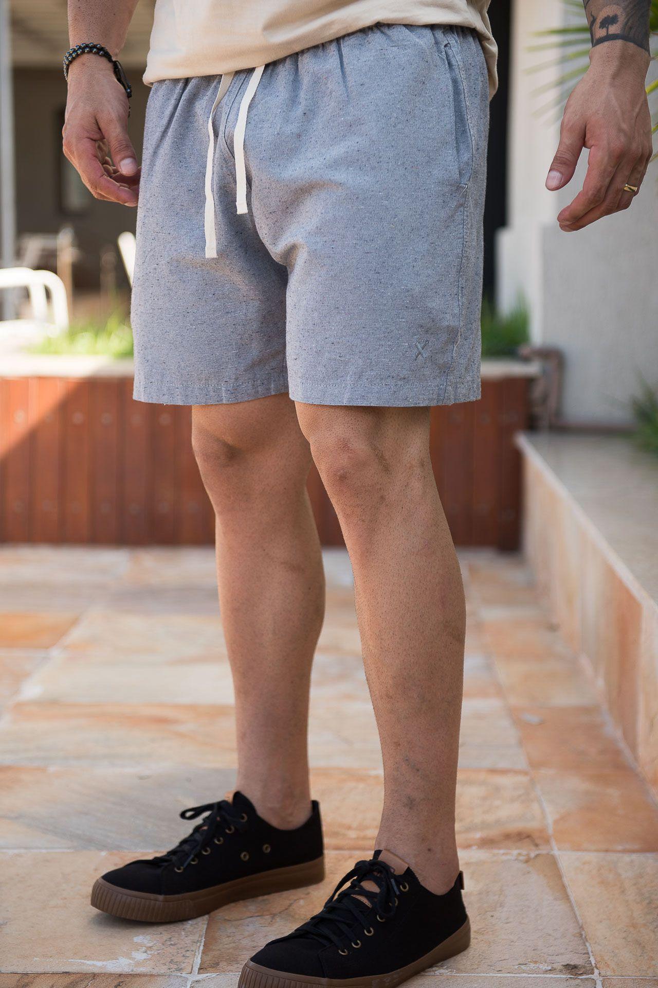 Short Masculino Txc Algodão Lisa - Cinza Escuro