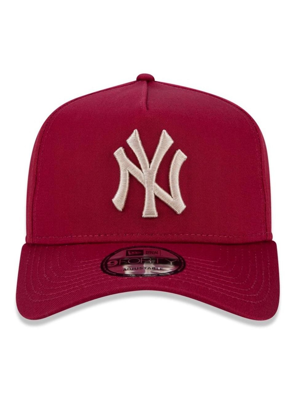 BONÉ NEW ERA NEW YORK YANKEES MLB VERMELHO BORDÔ