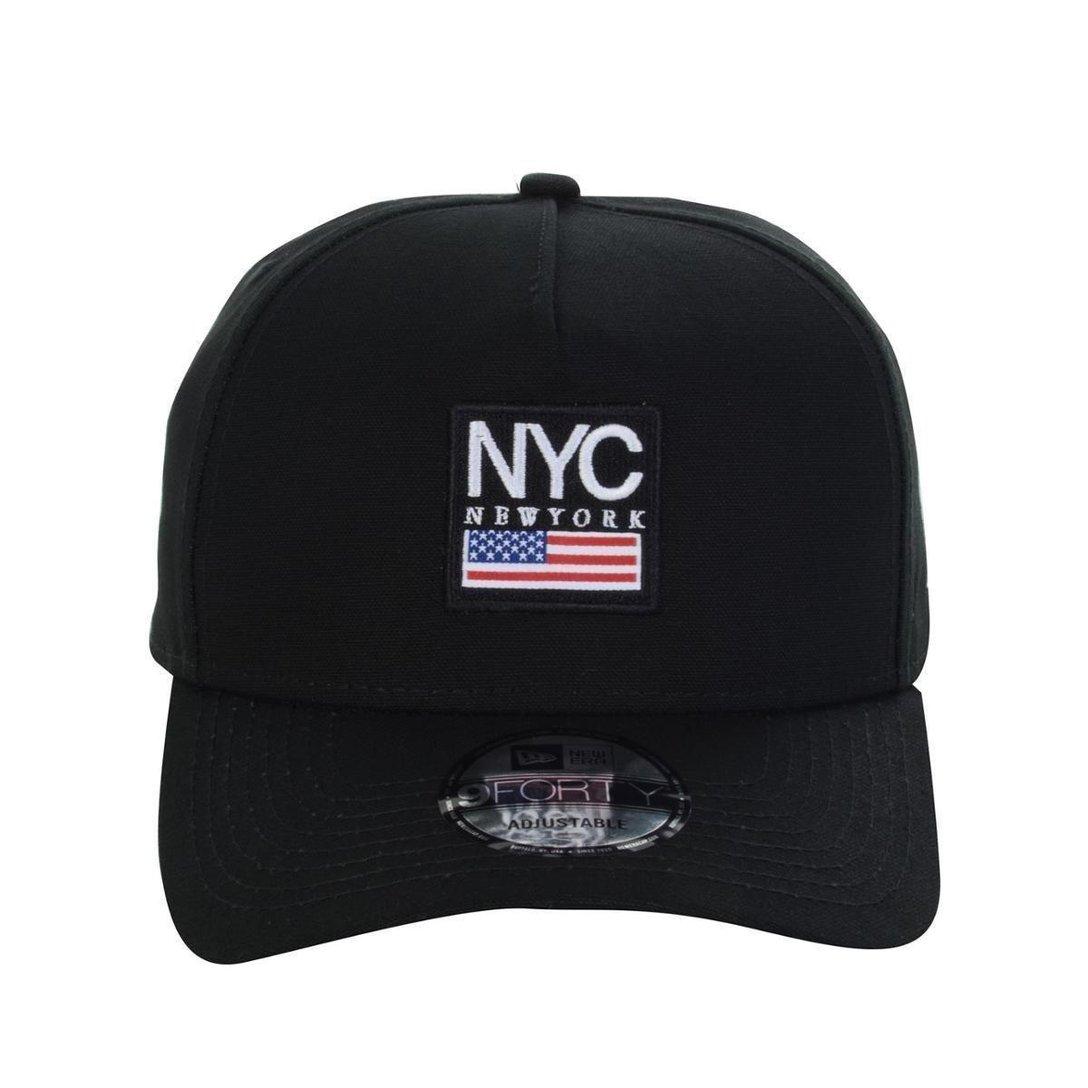 BONÉ NEW ERA 9FORTY AF CITIES NYC NEW YORK CITY PRETO