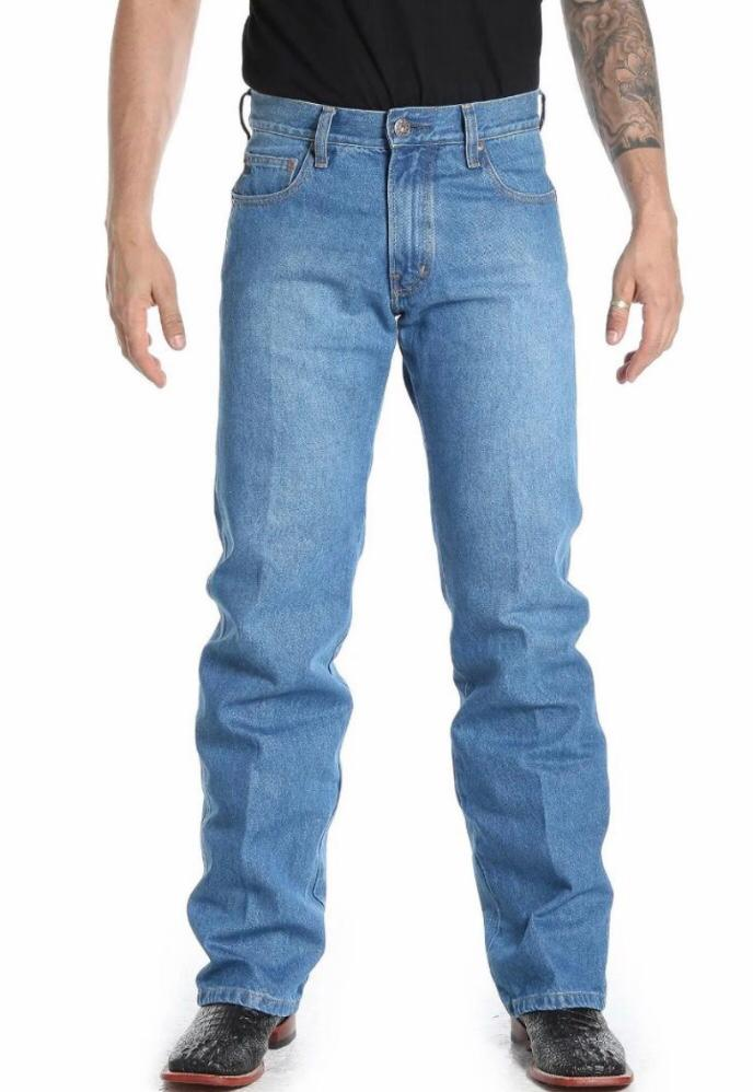 Calça Jeans Masculina Txc Algodão Lisa - Jeans Claro