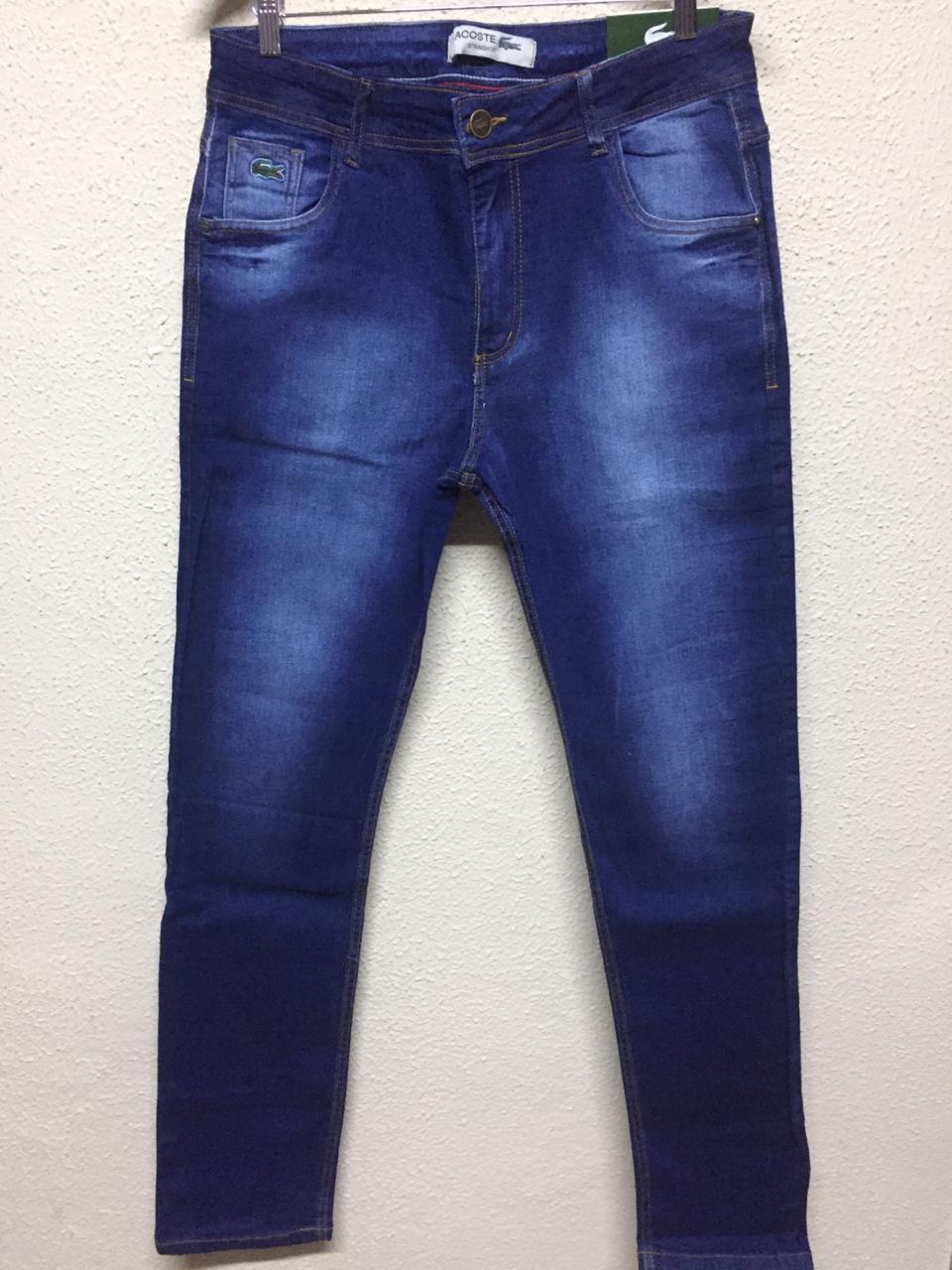 Calça Masculina Lacoste Jeans Lisa - Jeans Escuro