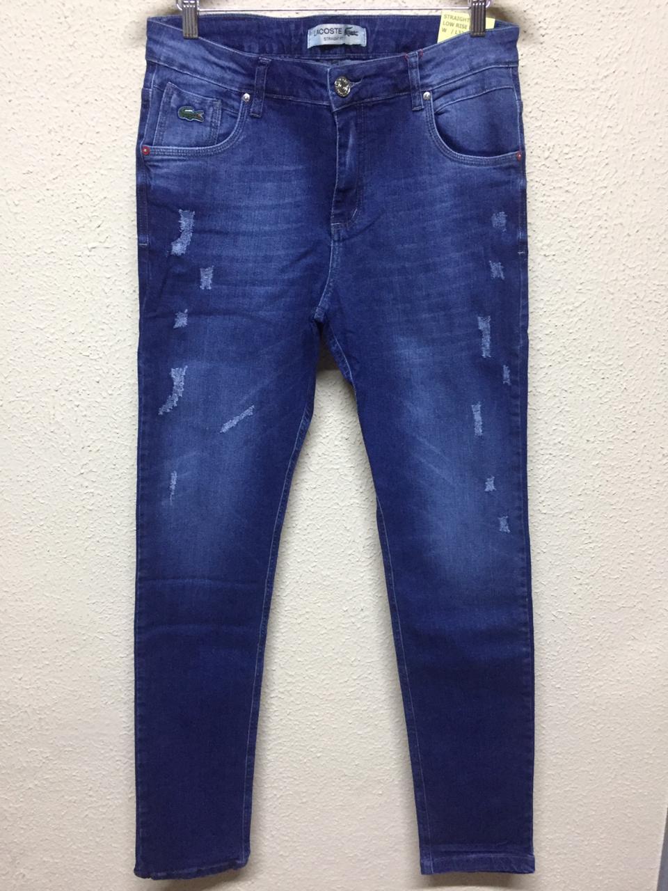 Calça Masculina Lacoste Sarja Lisa - Jeans