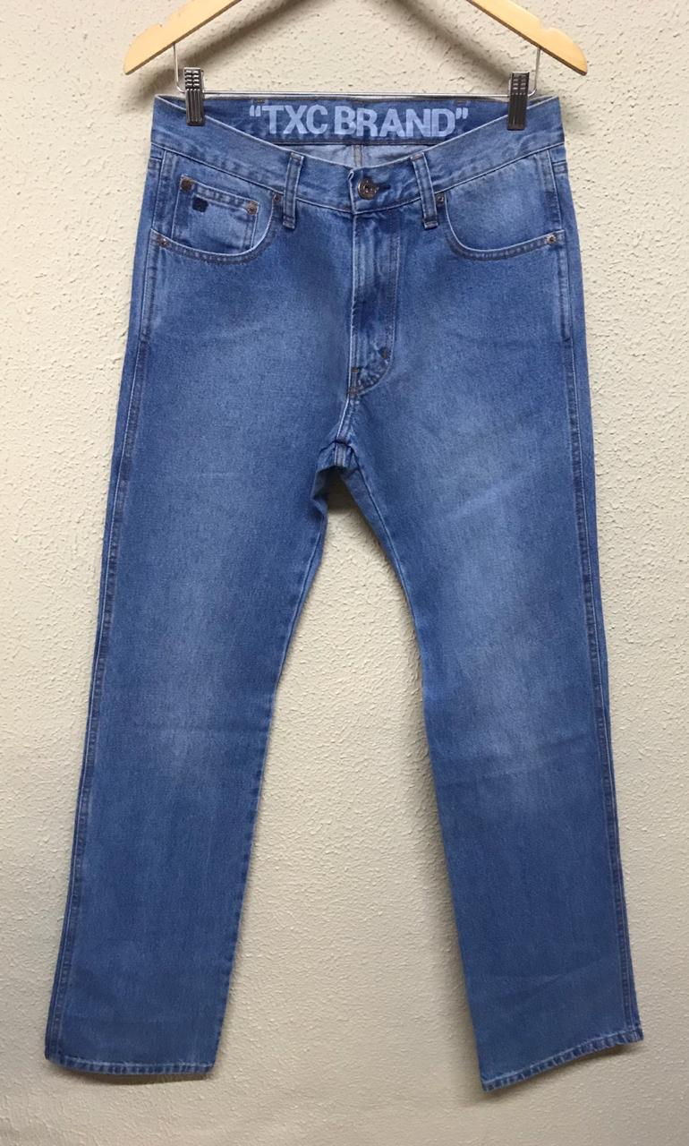 Calça Masculina Txc Brand Light Jeans Lisa - Jeans Claro