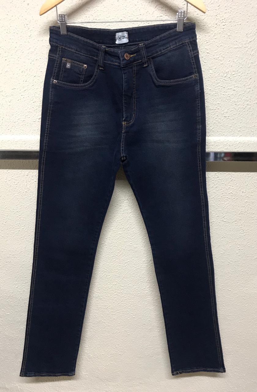 Calça Masculina Txc Skinny Elastano Jeans Lisa - Jeans Escuro